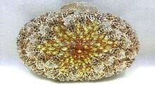 Freies verschiffen!! A15-63, gold farbe mode top kristallsteinen ring handtaschen für damen nette parteibeutel