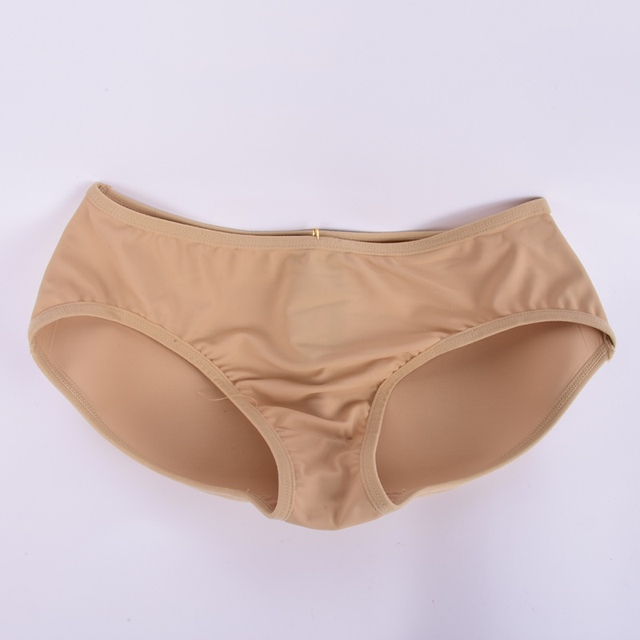 7b5cf00215f Buttock Backside Silicone Bum Padded Butt Underwear Women Soft Seamless  Sexy Enhancer Hip Up Briefs Panties Knickers