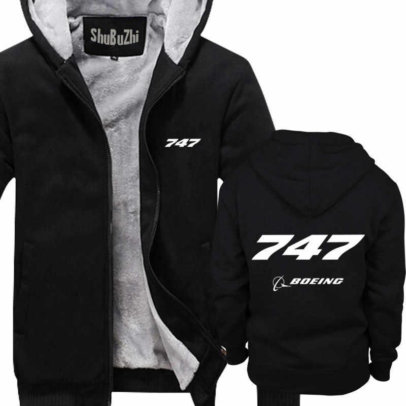 a9391d1b5 Boeing737-737 Boeing Tagless shubuzhi men Winter padded zipper sweatshirt  thick fleece jacket coat fashion