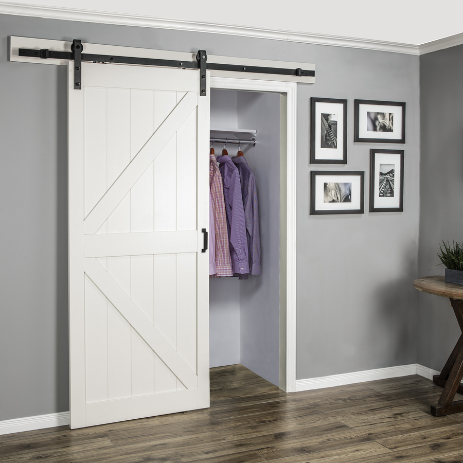 white barn door home decro rustic black classic rail sliding barn door 13144