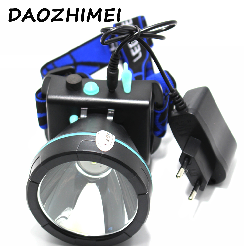 10W LED headlights waterproof headlights rechargeable headlights mining head flashlight hunting camping fishing + charger