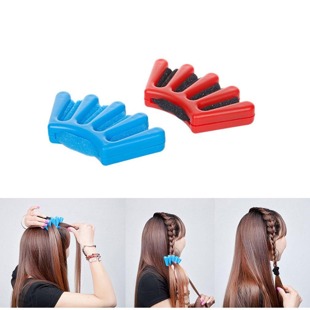 DIY Hair Braider Artifact For Salons Hair Styling Female Hair Tool Modeling Sponge Plait Clip Holder French Braid Top Sale