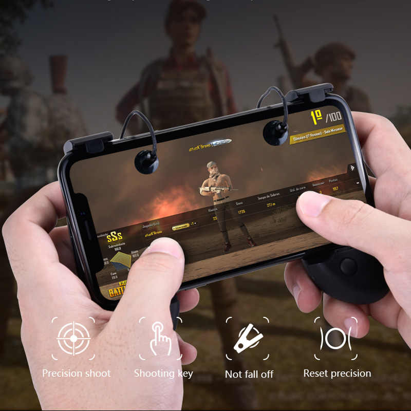 PUBG Mobile Game Controller Gamepad Trigger Aim Button L1R1 Shooter  Joystick For IPhone Android Phone Grip Game Pad Accesorios