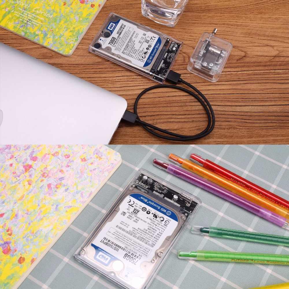 ORICO HDD SATA sang USB 3.0 HDD Ốp Lưng Công Cụ Miễn Phí cho năm 7/9. 5mm 2.5 inch SATA SSD Lên đến 3TB Đĩa Cứng Box HDD Gắn Ngoài Ốp Lưng