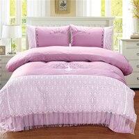 Высокое качество Египет хлопок павлиний хвост постельных принадлежностей мягкие шелковистые кровать набор королева король Размер 4 шт. пос
