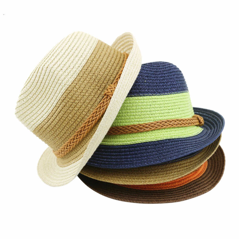 32b898ff06657 2018 new Summer small fedoras women s sun-shading sunscreen sun hat fashion  straw hat beach