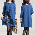 F&B Embroidered Cotton Maternity Dress Plus Size Linen Clothes for Pregnant Women Printed Autumn Clothing For Pregnancy