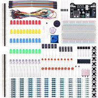 Electronic Fun Kit For Arduino Bundle With Breadboard Cable Resistor Capacitor LEDs