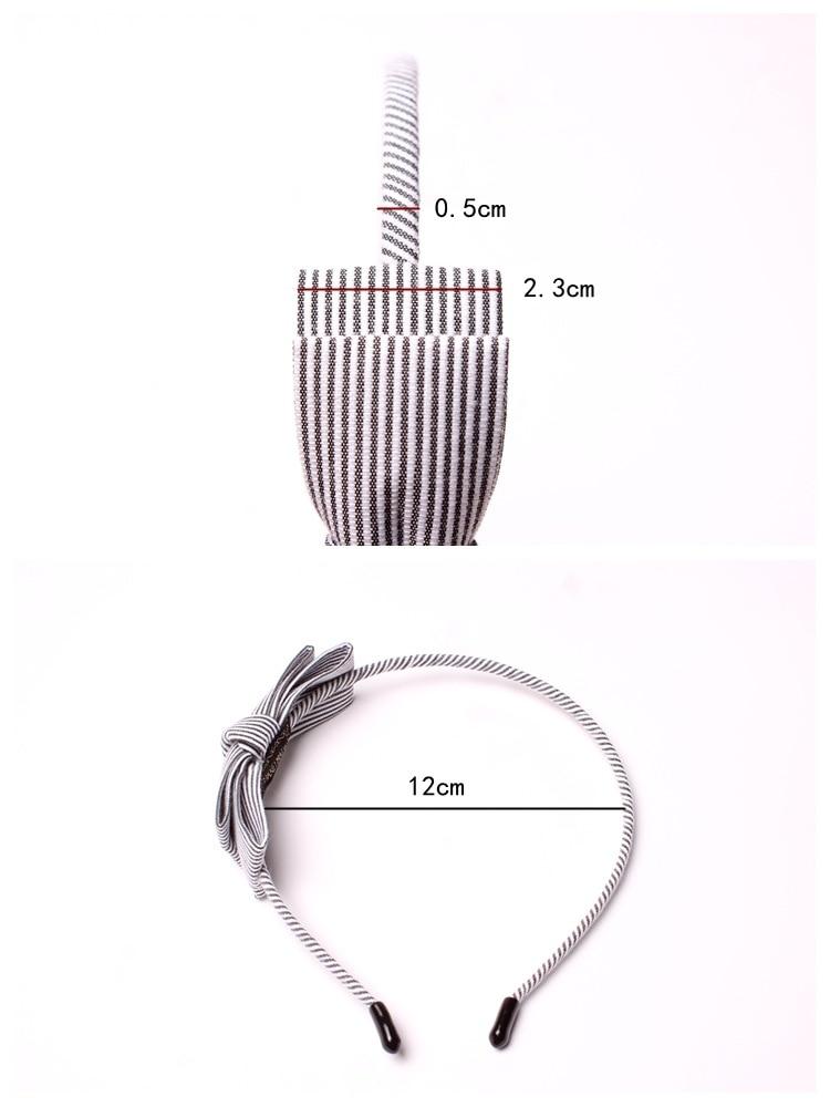New Stripe Fabric Scrunchy Kvinnor Girls Turban Headband Hair Head - Kläder tillbehör - Foto 2