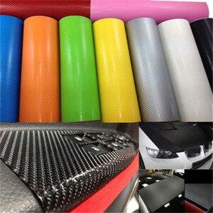 127cmx10/20cm 3D Carbon Fiber Vinyl Car Wrap Sheet Roll Film Car Sticker Motorcycle Decals Car Styling Interior Accessories(China)