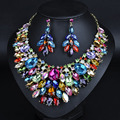 HOUDA Fashion Women Jewelry Sets Big Crystal Hypoallergenic Necklace/Earrings Exaggerated Wedding Jewelry Sets GD006