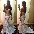 Vestidos de fiesta blanco barato Sirena Cariño Satinado Vestido Con Cuentas de Cristal Rhinestone Sexy Vestido de Fiesta abendkleider 2017