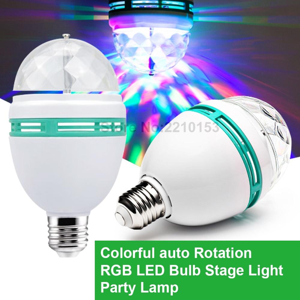 Led Bubble Ball DJ Lamp Light Bulb 3W Colorful RGB Magic Stage Lighting Effect Colorful Rotating Party Light E27 AC85-265V mlb 3 magic ball style 4w auto rgb led stage light black ac 90 240v