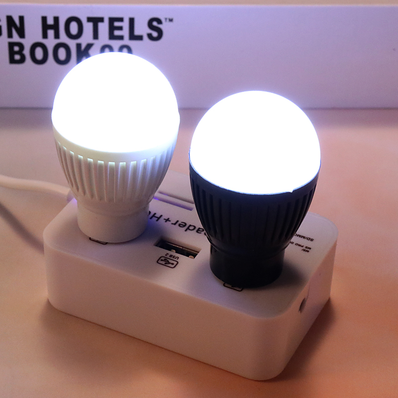 Portable Reading Energy Saving Led Usb Small Bulb For Notebook Mobile Power Emergency Light Usb Led Lamp (Random Colors)