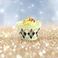 120 stks/partij Laser Gesneden Papier Wrapper Cake Cupcake Verpakking Bruiloft Banket Pancake Biscuit Omliggende Rand wc557