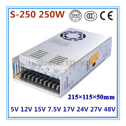 single output switching power supply S-250,250W AC input, output voltage 5V,12V.15V,24V.. without dial switch single switching switch power supply output 3 1a 24v input 115 230 vac co2 laser led