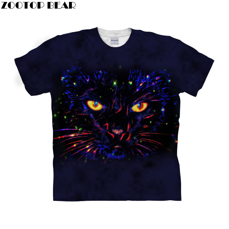 Anime Cat t shirt 3d t-shirt Men Women tshirt Short Sleeve tshirt Unisex Top Streetwear Tee Funny Camiseta Drop Ship ZOOTOP BEAR