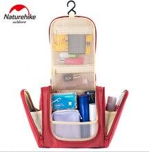 Naturehike Travel Camping Nylon Portable Travel Bags Wash Bag Makeup Organizer Bag With Hang Big Capacity For Outdoor Camping