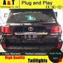 Shipping Option LED Tail Lights for Toyota Land Cruiser tail lights 2010-2012 Prado rear trunk lamp drl+signal+brake+reverse