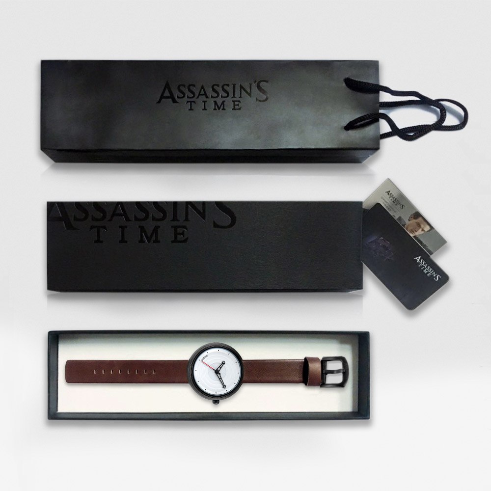 Assassin's Time Brand Luksus Vandtæt Quartz Watch Man Læder Sport - Mænds ure - Foto 6