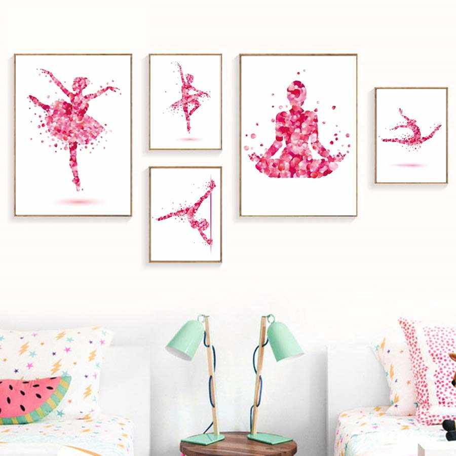 Dancing Fairy Girl Poster&Print For Dressing Room Modern Wall Painting Modular Canvas Picture Chart Art Murals Home Decoration