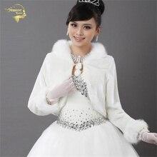 Coat Wedding Bolero Outerwear Wedding Accessories Urged Wrap Bride Formal Winter Cape Bride Fur Shawl Wedding Jacket Wrap OJ321