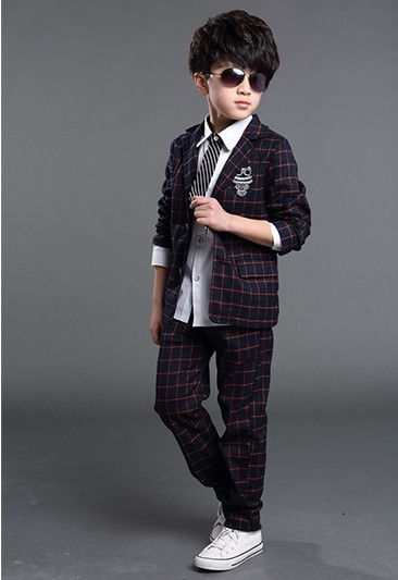 Special Children Suit Plaids Boys Blazers For Boys Formal Suit Kids