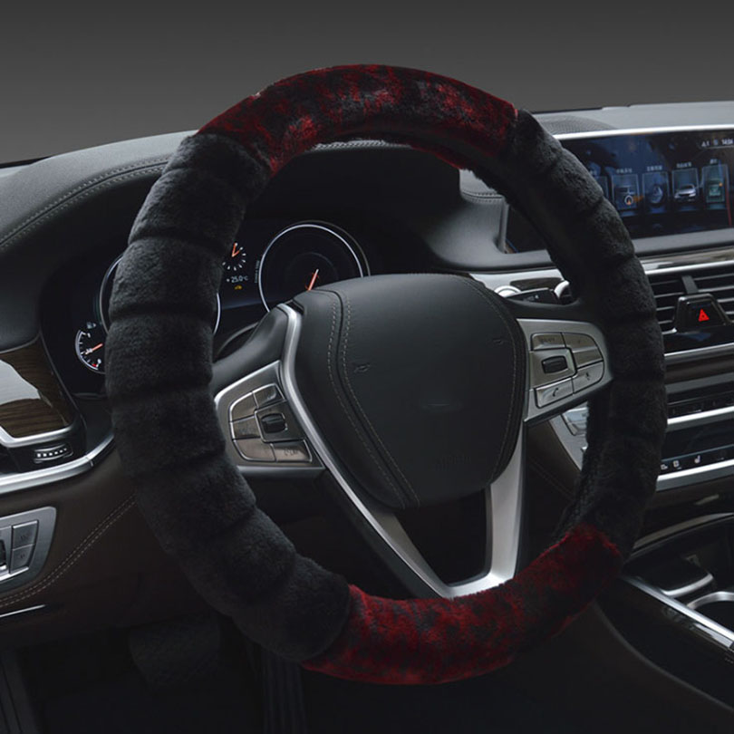 BERSAI 38cm Car steering wheel cover Plush Warm Comfortable Cold weather For Chevrolet Ford Citroen Kia 95% Car use