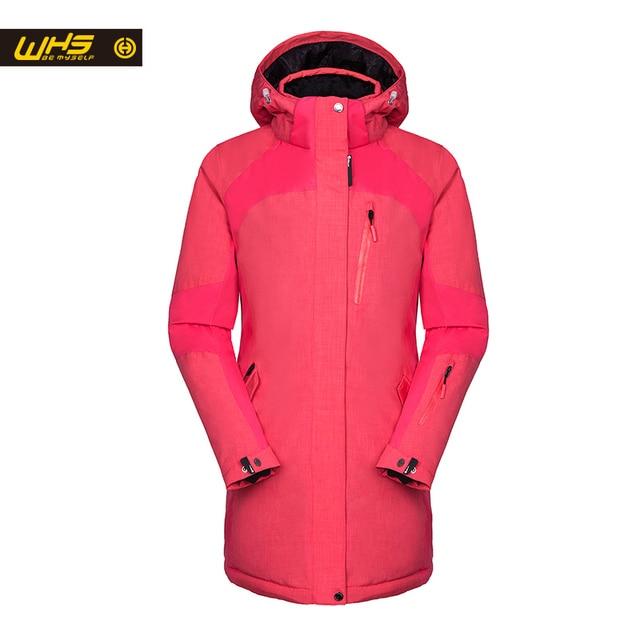 WHS 2016 новый лыжи куртка ветрозащитный и водонепроницаемый спортивная женский теплое пальто зимние