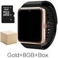 CALIENTE Reloj + Ranura Para Tarjeta SIM Bluetooth Reloj Inteligente Android GT08 Empuje Mensaje Conectividad Bluetooth Del Teléfono Smartwatch CON CAJA
