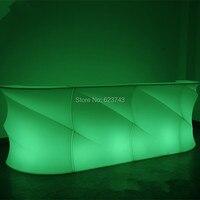 Бар Паб Мода светодиодной подсветкой мебель аккумуляторная дистанционный пульт перерыв уголок LED винный бар Настольный Счетчик освещенные