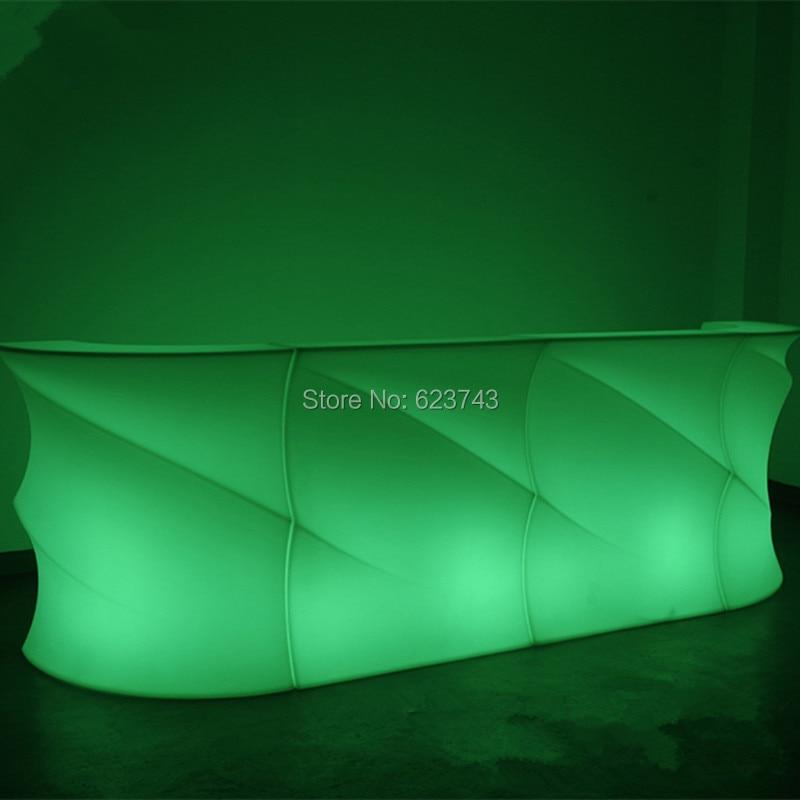 все цены на Bar Pub Fashion LED illuminated furniture rechargeable remote control BREAK Corner LED Bar Wine table counter lighted smartbar