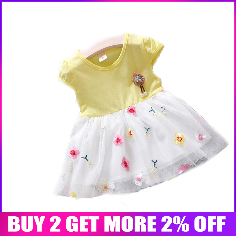 0fafeb0f09632 BibiCola Baby Girls Dress Summer Newborn Baby Sleeveless Flower Lace Beach  Dress For Bebe Girls Princess