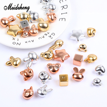 Meideheng Acrylic Charms Beads Golden/Silver/Rose Golden Metal Color Plated Beads For Jewelry Making Bracelet Women Gifts Design лаки для ногтей golden rose лак golden rose rich color тон 44