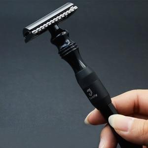 Image 3 - New 1 Safety Razor 10 Blades Double Edge Shaver Men Shaving Manual Classic Metal Handle