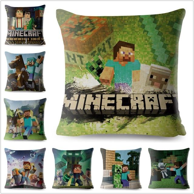 Us 499 Minecraft Geometryczne Portret Scenic Pokrywy Poduszki Pościel Poduszki Obejmuje Car Sofa Sypialnia Dekoracji Poszewka Na Poduszkę 4545 Cm