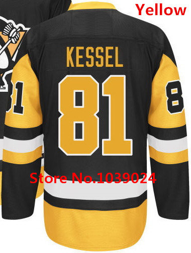 2016 New Traded 81 Phil Kessel Jersey Pittsburgh Penguins Black Yellow Blue  White Hockey Jersey Top Stitched Quality-in Hockey Jerseys from Sports ... 438abcdc6