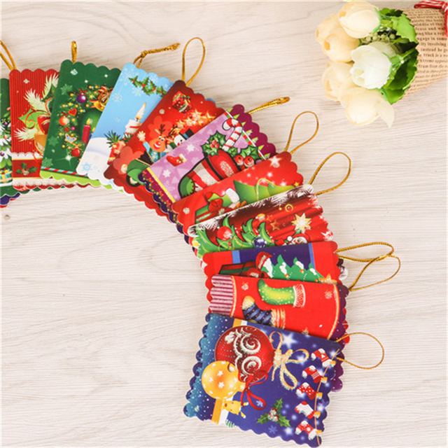 20pcsset merry christmas card greeting card wish card sticker 20pcsset merry christmas card greeting card wish card sticker ornaments pendant christmas tree ornaments m4hsunfo