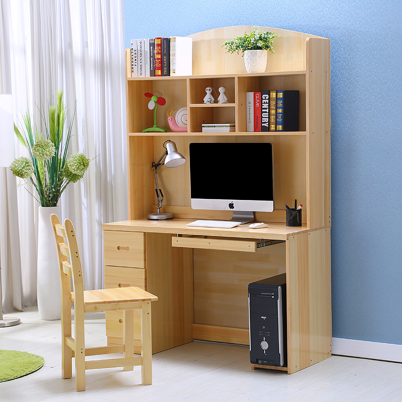 Computer Desk Pc Laptop Wood Table Home Office Study: Wood Desktop Computer Desk Study Tables For Children Home