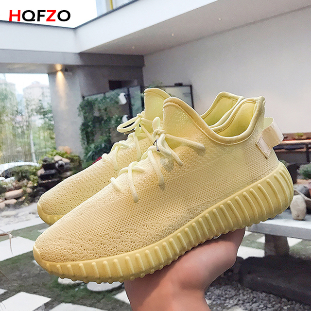 HQFZO Breathable Casual Lovers Runing Shoes Stretch Sock Shoes Platform Elastic Sneakers Outdoor Women Shoes Tenis Feminino