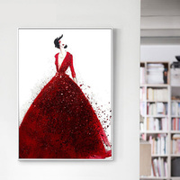 New 5D Diamond Painting,Red Wedding Dress,DIY Diamond Embroidery,Simple Modern Living Room,Bedroom,Wedding Celebration Decor