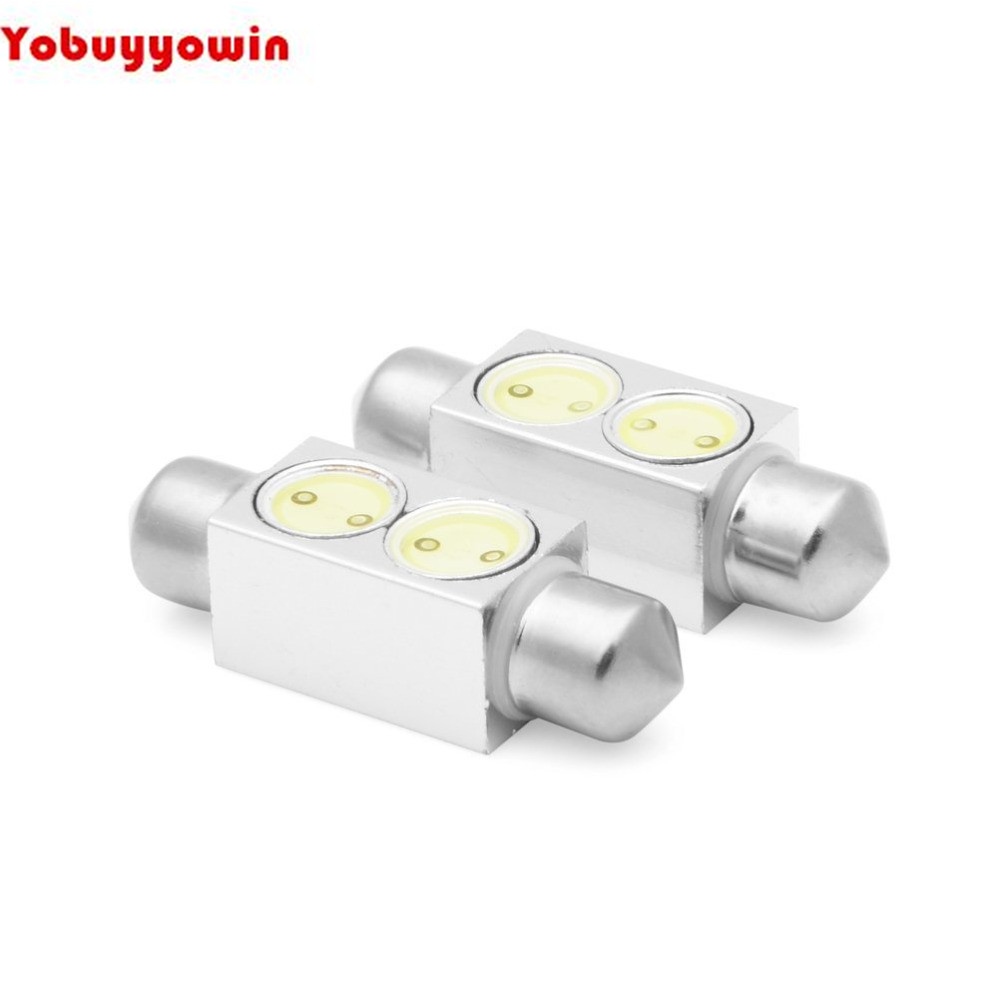 10x 2W White 6411 6418 1.5 36mm 39mm COB LED Side Door Courtesy Light For Chevrolet Dodge Ford GMC Jeep
