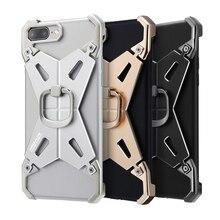 Новый Nillkin телефон чехол для iPhone 7 Plus алюминиевого сплава с кольцом жесткий металлический каркас бампер случаев задняя крышка корпуса протектор сумки
