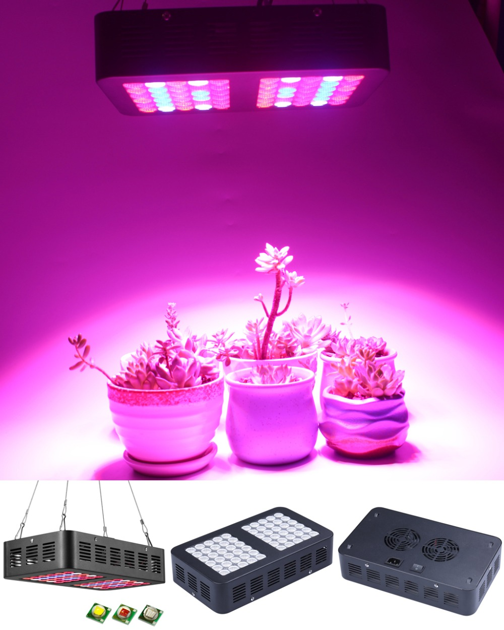 Reflector 300W LED Grow Light Full Spectrum for Indoor Greenhouse grow tent Plants Veg Flower Lamp plants grow led light 2pcs full spectrum led grow light 400w grow lights indoor plant lamp for plants flower greenhouse grow box tent bloom ae