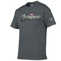 Футболка marvel, рубашка Мстителей, мужская повседневная футболка с круглым вырезом и короткими рукавами, Модная хлопковая футболка с принтом,...