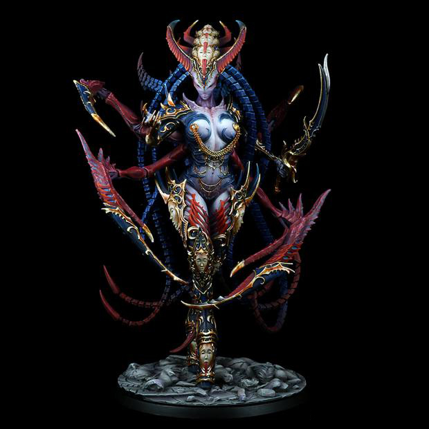 185MM Dark Queen of Ecstasy 185mm WITH BIG BASE toy Resin Model Miniature resin figure Unassembly