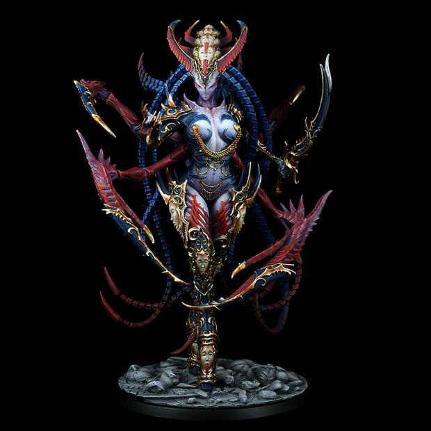 185MM Dark Queen of Ecstasy 185mm WITH BIG BASE   toy Resin Model Miniature resin figure Unassembly Unpainted