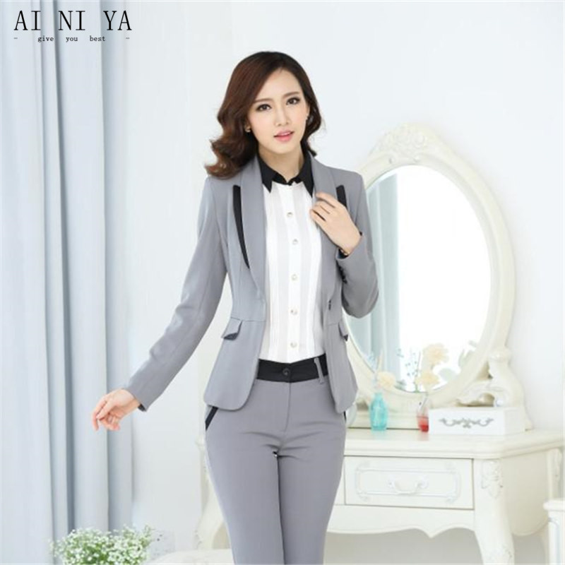 Back To Search Resultswomen's Clothing Novelty Blue Slim Fashion Professional Female Uniform Style Business Work Suits With Tops And Pants Ladies Office Trousers Sets To Assure Years Of Trouble-Free Service Suits & Sets