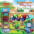 4 unids/set Nueva Thomas y Sus Amigos de Juguete Doble magnética magnética de aleación guerrero modelo de tren juguetes regalos de Navidad
