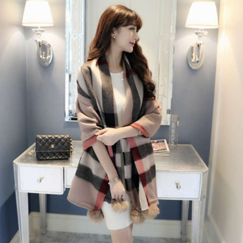 New Brand Cashmere Shawls And Scarves Wrap Women Girls Pattern Echarpe Hiver Femme font b Tartan